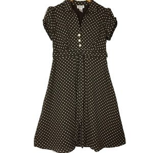 Vintage 80's / 90's Robbie BEE polka dot dress